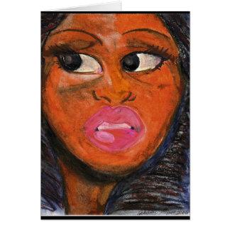 Beautiful Black Eyes Greeting Card