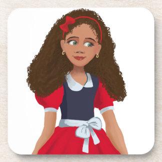 Beautiful Black girl Cork Coaster