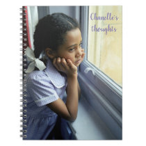 Beautiful black girl thoughts personalised journal
