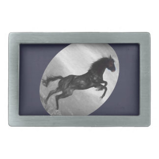 Beautiful  Black Horse Multiple Products selected Rectangular Belt Buckle