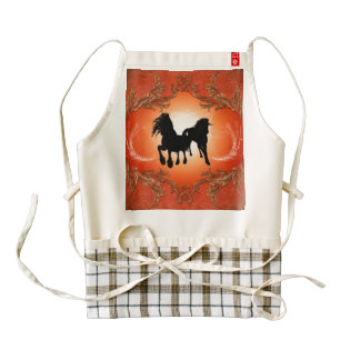 Beautiful black horse tattoos zazzle HEART apron
