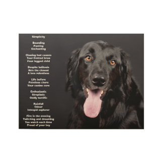 Beautiful Black Lab Poster with Poem Wood Poster