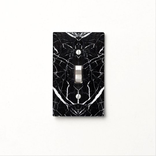 Beautiful Black Marble Light Switch Cover