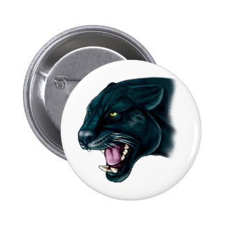 Beautiful Black Panther 2 Inch Round Button