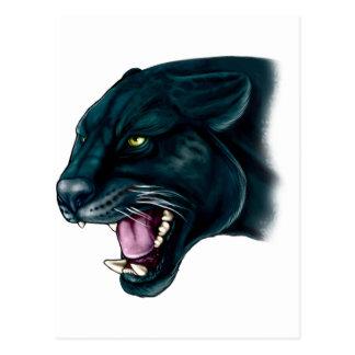 Beautiful Black Panther Postcard