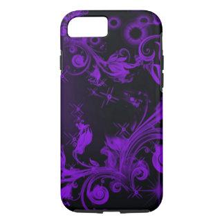 beautiful black purple floral case