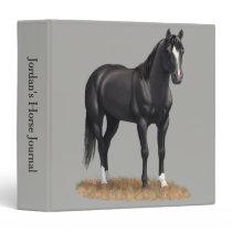 Beautiful Black Quarter Horse Stallion Binder