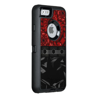 Beautiful Black Red Fractal OtterBox Defender iPhone Case