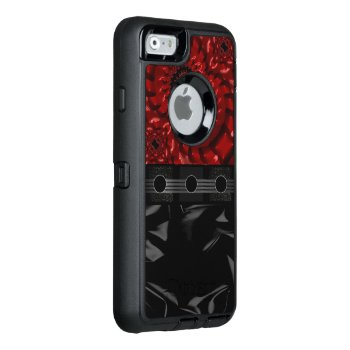 Beautiful Black Red Fractal Otterbox Defender Iphone Case by TeensEyeCandy at Zazzle