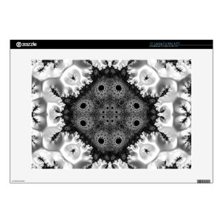 Beautiful Black&White Fractal Abstract Decals For Laptops