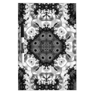 Beautiful Black&White Fractal Abstract Dry Erase Board