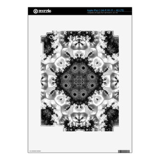 Beautiful Black&White Fractal Abstract iPad 3 Skin