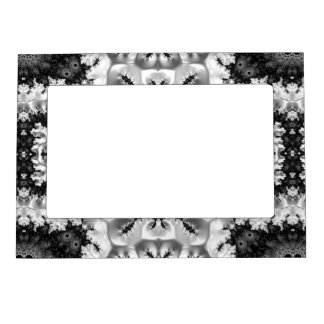 Beautiful Black&White Fractal Abstract Magnetic Frame