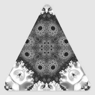 Beautiful Black&White Fractal Abstract Triangle Sticker