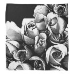 Beautiful Black&white Roses Bandana at Zazzle