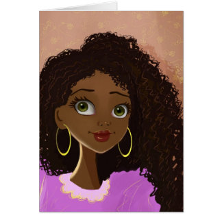 beautiful black woman Greeting Card