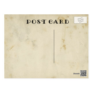 Beautiful Blank Antique Aged Stained Paper Postcard