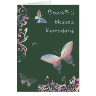 Beautiful blessed Ramadan - Greetings Card