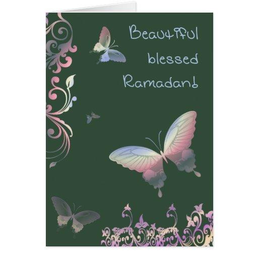 Beautiful blessed Ramadan - Greetings Greeting Card