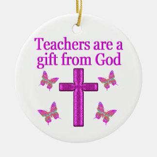 BEAUTIFUL BLESSED TEACHER DESIGN CERAMIC ORNAMENT