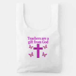 BEAUTIFUL BLESSED TEACHER DESIGN REUSABLE BAG