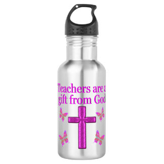 BEAUTIFUL BLESSED TEACHER DESIGN STAINLESS STEEL WATER BOTTLE