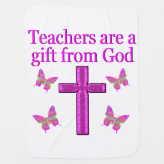BEAUTIFUL BLESSED TEACHER DESIGN SWADDLE BLANKET