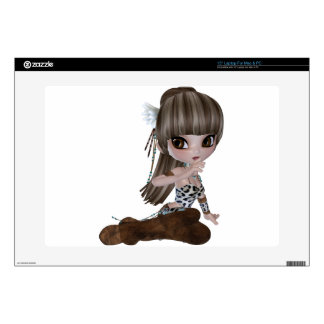 Beautiful Blind Girl in Brown Clothes Laptop Decal