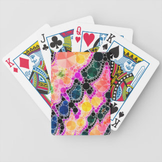 Beautiful Bling Abstract Pattern Bicycle Playing Cards