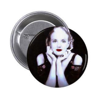 Beautiful Blond Woman 1920s Pinback Button
