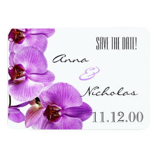 Beautiful blooming orchids - Save the date Card