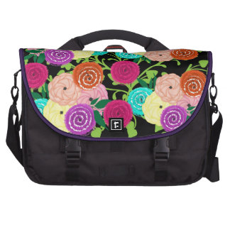 Beautiful Blooming Whimsical Garden Flowers Laptop Bags