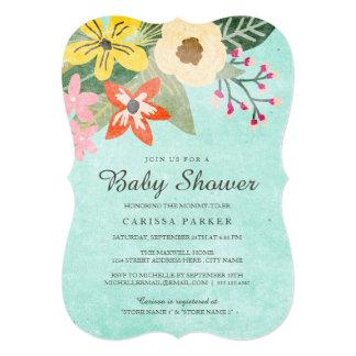 Beautiful Blooms Baby Shower Invitation