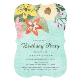 Beautiful Blooms Birthday Party Invitation