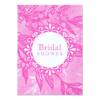 Beautiful Blooms In Pink 4.5x6.25 Paper Invitation Card