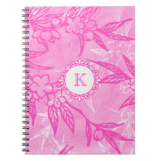 Beautiful Blooms In Pink Note Books