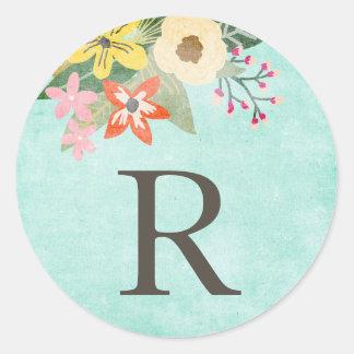 Beautiful Blooms Monogram Stickers