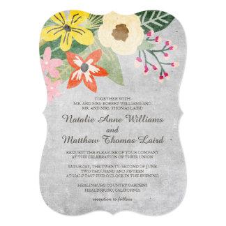 Beautiful Blooms Wedding Invitation / Gray