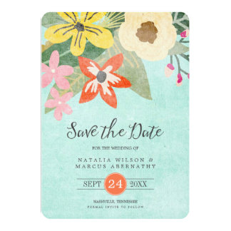 Beautiful Blooms Wedding Save the Date Card