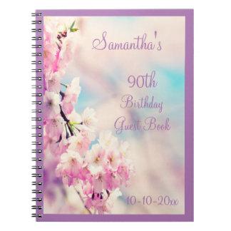 Beautiful Blossom 90th Birthday Notebook
