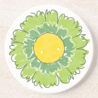 Beautiful Blossom Coaster - Green