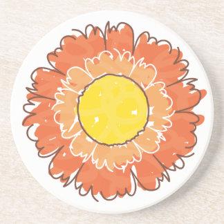Beautiful Blossom Coaster - Orange