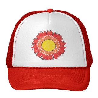 Beautiful Blossom Trucker Hat - Red