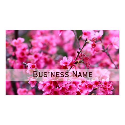 Beautiful Blossoming Sakura Flowers Business Card Template
