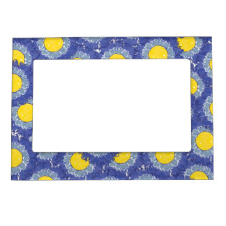 Beautiful Blossoms Magnetic Frame - Blue