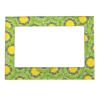 Beautiful Blossoms Magnetic Frame - Green
