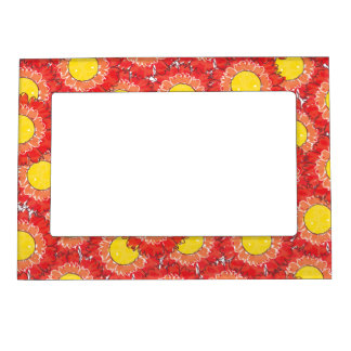 Beautiful Blossoms Magnetic Frame - Red