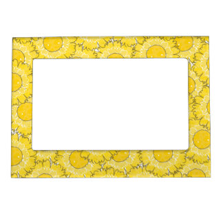 Beautiful Blossoms Magnetic Frame - Yellow