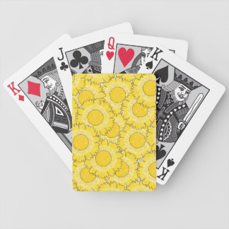 Beautiful Blossoms Playing Cards - Yellow