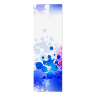 Beautiful Blue Abstract Bookmark Double-Sided Mini Business Cards (Pack Of 20)